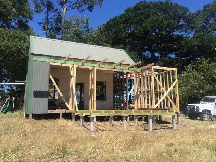 Cottage progress framing
