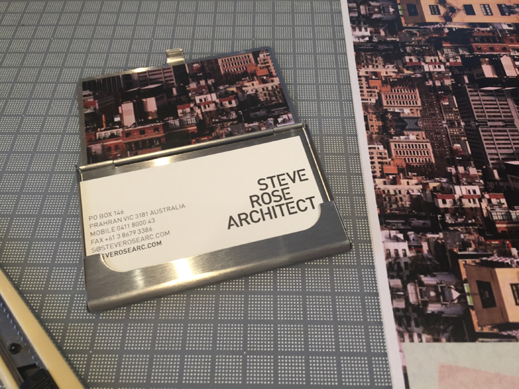architect christmas 2014 3 business cards