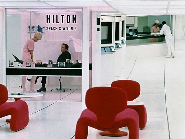 Stanley Kubrick's 2001: A Space Odyssey (1968) Hilton Space Station Interior