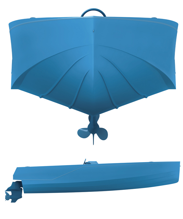 blue boat 4 RAL5015
