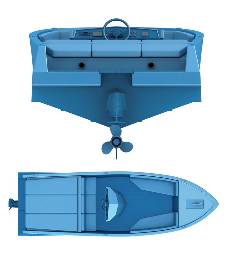 blue boat 5 RAL5015