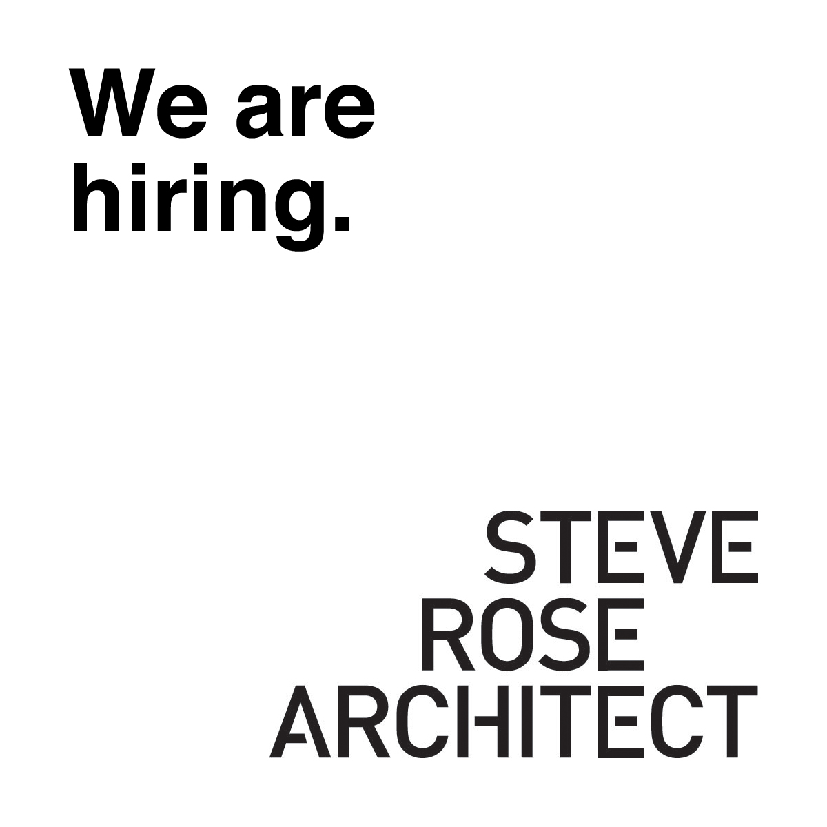 steverosearc hiring on instagram